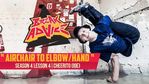 Image to: Break Advice — 4 урок (4 сезон): Air chair to elbow / hand