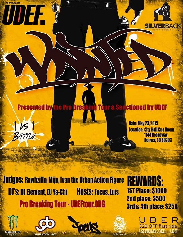 Image to: Wanted 2015 (UDEF tour)